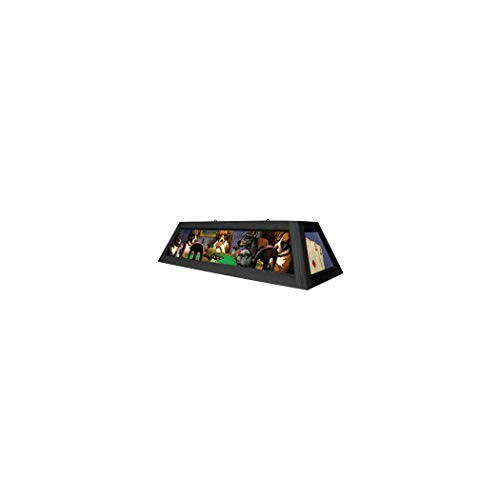 Dogs Playing Poker Pool Table Light - Brown Trim - 42 Inches Long ()