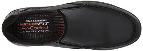 Skechers Heren Venick Perlo Slip-on Loafer Zwart