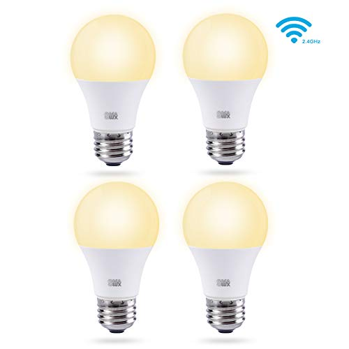Cheap Smalux Smart WiFi LED Light Bulbs 4 Packs A19 E26 Warm White 9W 800lm Dimmable Smart Home Lighting Bulb,Works with Alexa/Google Home/Smart Life APP,Voice and Remote Control Bulb,No Hub Required