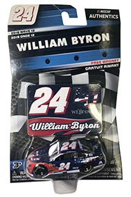 NASCAR Authentics William Byron #24 Diecast Car 1/64 Scale - 2018 Wave 12 with Die Cast Magnet - Collectible