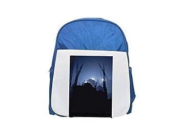 Una mochila con estampado azul cielo para niños, mochilas bonitas, mochilas pequeñas, mochila