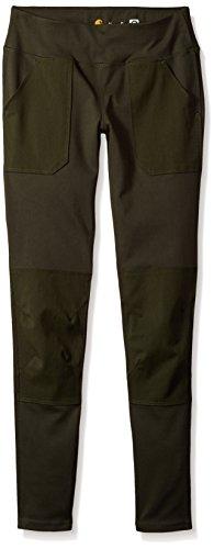 Carhartt Women's Force Utility Legging, Olive, M Standard by Carhartt