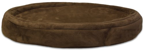 Gel-Pedic Toy Ultra-Soft Suede Pet Bed Cover, Chocolate (Gel Pedic Pet Bed Cover)