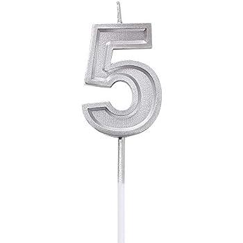 Amazon.com: URAQT - Velas de cumpleaños con números, color ...