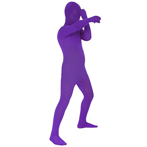 Purple Original Kids Morphsuit Costume - size Large 4'1-4'6 (123cm-137cm)
