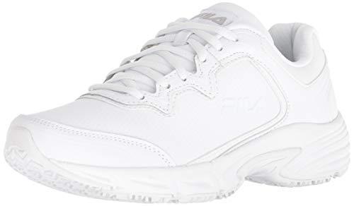Fila Women's Memory Fresh Start 2 Slip Resistant Running Shoe Hiking, White, 7 B US (Best Fila Running Shoes)
