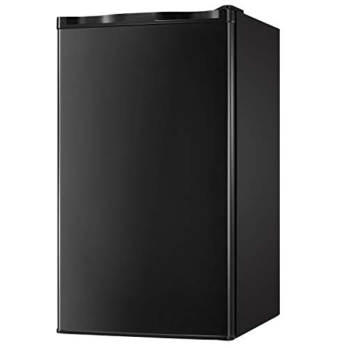 Classic Black classic black Office,Dorm or RV Tavata 3.2 Cu Compact Refrigerator Double Door Mini Fridge with Top Door Freezer,Small Drink Chiller for Home