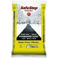 - Safe Step Rock Salt Ice Melter Sodium Chloride (Rock Salt) Melts Ice Down To 5 F / -15 C 25 Lbs.