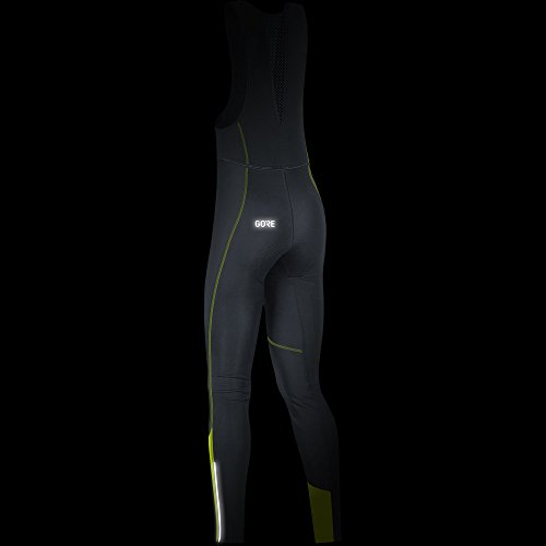 GORE WEAR Women's Long Cycling Bib Tights, C3 Women's Windstopper Bib Tights+, Size: S, Color: Black/Neon Yellow, 100332 by GORE WEAR (Image #4)