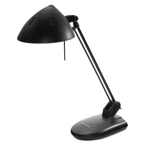 Advantus Black Desk Lamp - NEW - High-Output Three-Level Halogen Desk Lamp, 17 Inch Reach, Matte Black - L281MB