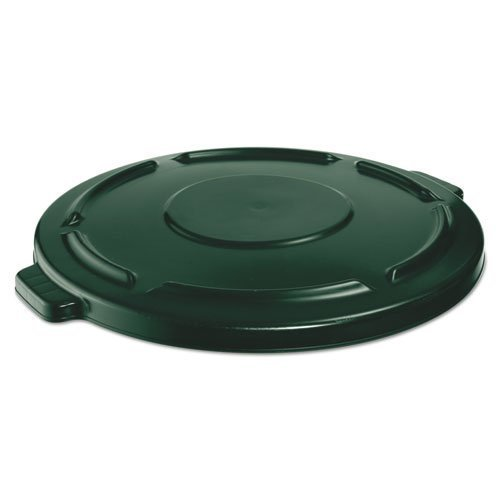 Rubbermaid Commercial FG264560DGRN BRUTE Heavy-Duty Round Waste/Utility Container, 44-gallon Lid, Dark Green