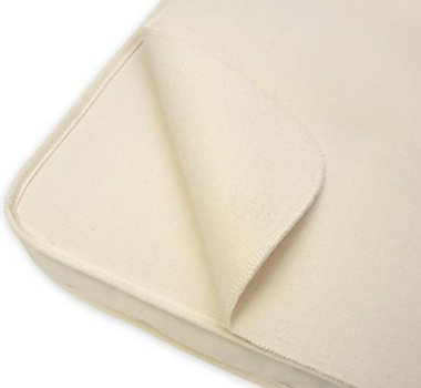 Organic Flannel Mattress Pad - Naturepedic Organic Cotton Waterproof Flat Portable Crib Protector Pad