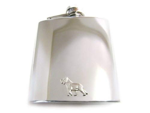 6 Oz. Stainless Steel Flask with Tiger Pendant