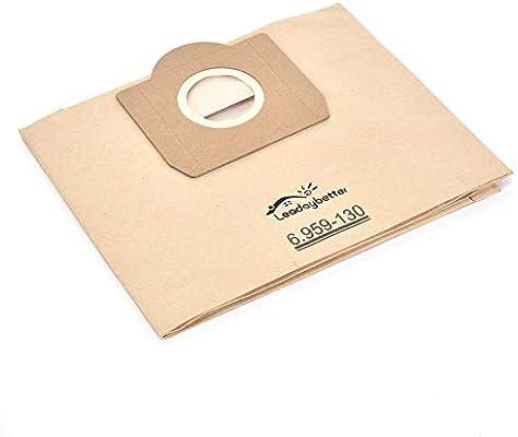 Bolsas para aspiradora Karcher 6.959-130.0 filtro de bolsas de papel (10 unidades) A 2201/2204/2504: Amazon.es: Hogar