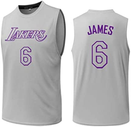 #6 、バスケットボールゲーム制服、速乾性バスケットボールトレーニングユニフォーム、グレーバスケットボールジャージー、 S-3XL