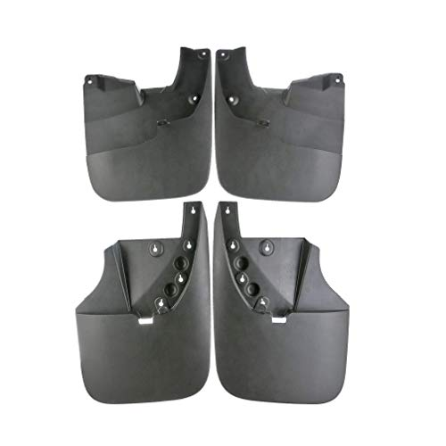 (Set of 4 Front and Rear Mud Flaps Splash Guards for Toyota Tundra 2007-2013 without Factory Fender Flares)