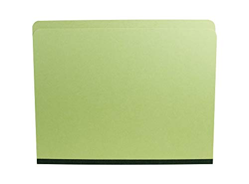 AMZfiling Pressboard Expanding File Folders- Letter Size, 1-1/2 Inch Expansion, Straight Cut Tab, Light Green (25 per -