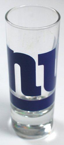 NFL Cordial 2 oz Shot Glass (New York Giants) (2 Nfl Oz Glass Shot)