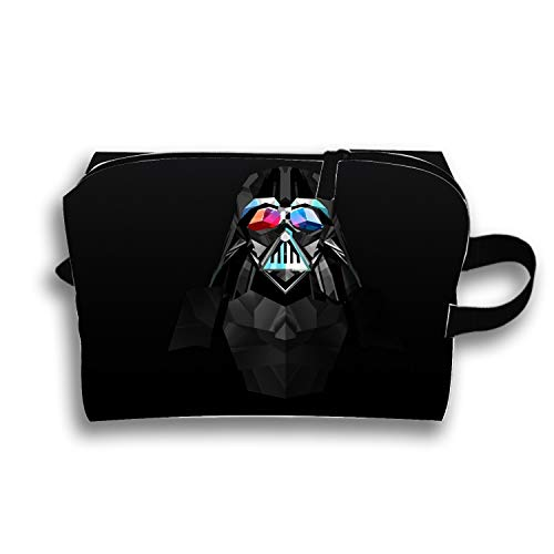 Travel Makeup Pouch Abstract Facets Star Wars Darth Vader Cosmetics and Toiletries Organizer Bag -