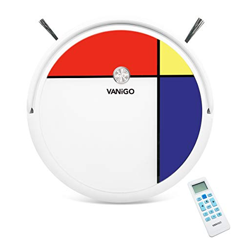 Smart Robotic Vacuum Cleaner and Mop, for Pet Hair Hard Floor, 1400Pa Suction, Mapping Navigation and Remote Control Mondrian VANiGO A3