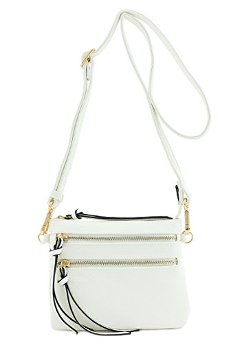Multi Pocket Small Crossbody Bag (White)