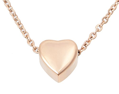 Zoey Jewelry Small Floating Heart Cremation Urn Pendant Ashes Memorial Necklace (Rose Gold) (Best Cremation Care Reviews)