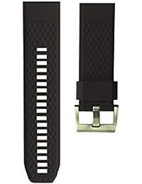 Compatible for Garmin Fenix 5X/Fenix 3/Fenix 3HR Bands Silicone Sport Bands Replacement Quick Release Watch Strap Smart Watch Wristband