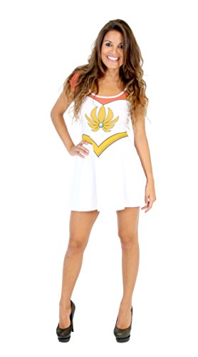 I Am She-Ra Juniors White Costume Skater Dress (Juniors (Womens Shera Costumes Tshirt)