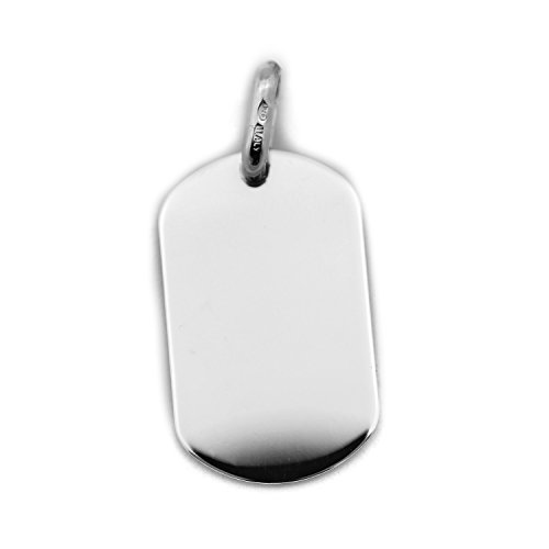 Beauniq Men's Solid Sterling Silver Heavy Large Dog Tag Pendant
