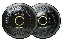 Taylor Grippa Pair Black Standard Density Crown Green Bowls