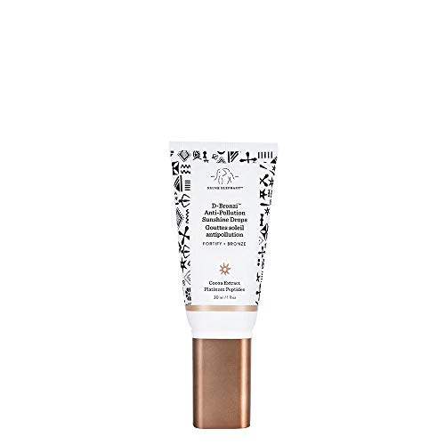Drunk Elephant D-Bronzi Antipollution Sunshine Serum. Replenishing Face and Body Bronzing Serum for Fine Lines and Wrinkles (1 fl oz / 30 ml).