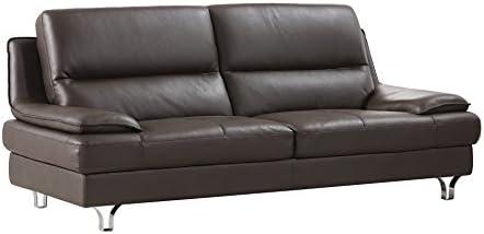 Best living room sofa: American Eagle Furniture Harrison Modern Leather Living Room Sofa