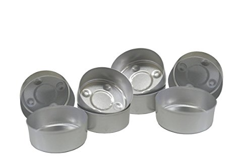 Aluminum Tealight Cups Empty Metal Candle Containers Mold Candle Making (50pcs)