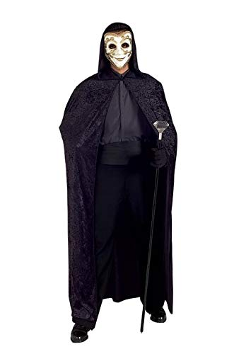 Black Panne Velvet Hooded Cape/Cloak Costume - Panne Velvet Cape