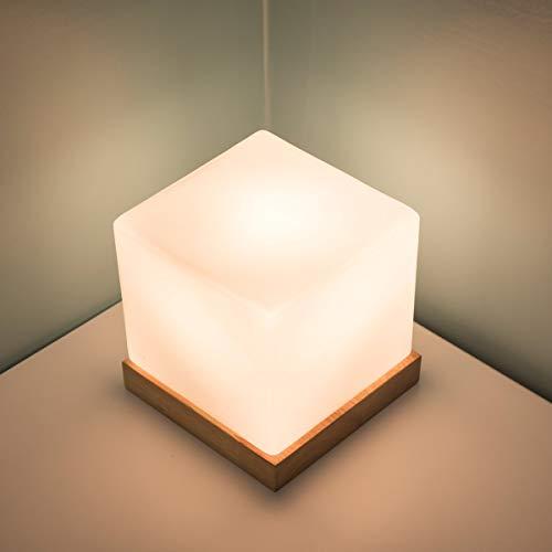 2018 Nueva Lampara de Mesa de Noche Habitacion de ninos Lampara de Escritorio Cuadrada Leche Creativa Decoracion de Mesa de Cristal Mesa de Cubos de Hielo Luz Minimalista Moderna de Noche