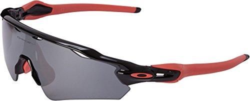 Oakley Men's Radar Ev Path (a) 0OO9275 Polarized Iridium Rectangular Sunglasses, POLISHED BLACK, 35 - Womens Radar Oakley