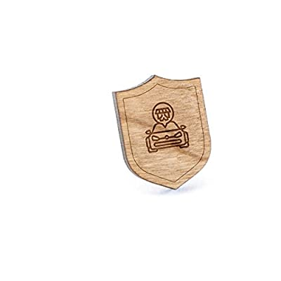 New Tuning Workshop Lapel Pin, Wooden Pin And Tie Tack   Rustic And Minimalistic Groomsmen Gifts And Wedding Accessories hot sale
