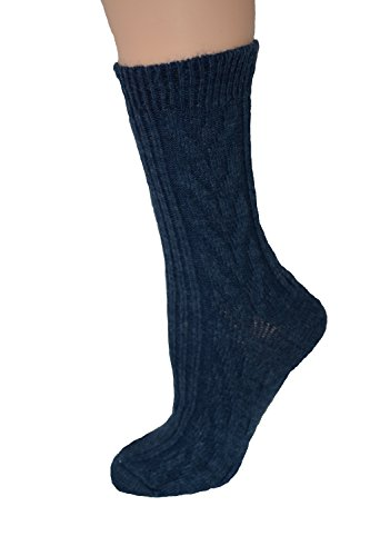 Women's Soft Marled Acrylic/Cotton Casual Crew Sock - Made in USA ()