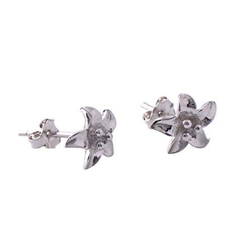 (Paialco Mother Love Sterling Silver Lily Flower Earrings Studs)