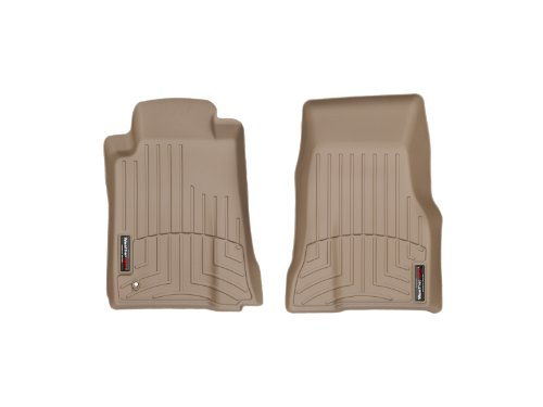 WeatherTech Custom Fit Front FloorLiner for Ford Mustang, Tan (2007 Mustang Weather Tech)