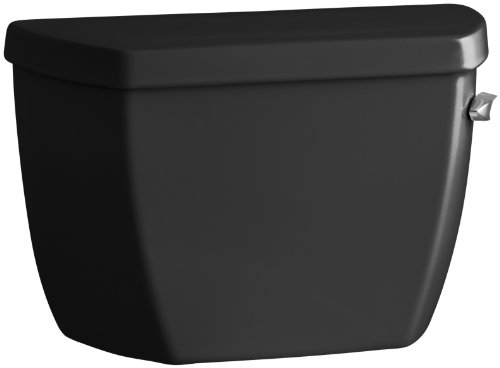 Kohler K-4484-RA-7 Highline Classic 1.0 gpf Toilet Tank with Right-Hand Trip Lever, Black Black - Ra 7 Wellworth Toilet