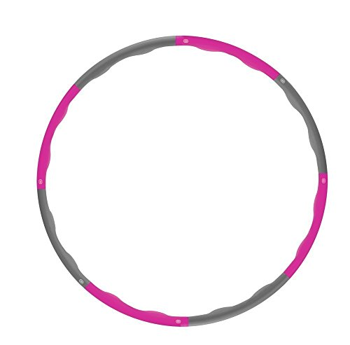Hula Hoop - Heavy Fitness Hoop Weight Loss Workout Equipment , Easy to Use Exercise Hoop - Fun, Easy Way to Workout - Dance, Twist, Stretch, & Sweat (Pink)