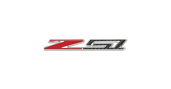 Domed 3 inch Carbon Fiber Look w//Chrome Trim: C7 Stingray Z51 West Coast Corvette // Camaro Corvette C7 Z51 Badge Emblem West Coast Corvette