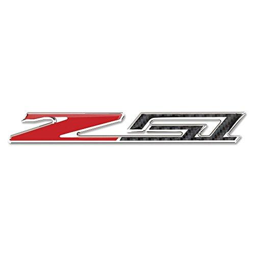 West Coast Corvette - Corvette C7 Z51 Badge Emblem - Domed - Carbon Fiber Look w/Chrome Trim: C7 Stingray Z51 (3 - Z51 Corvette