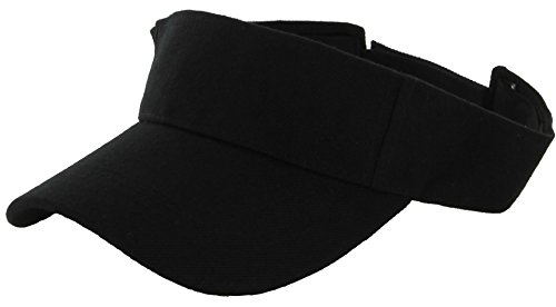(Adjustable Summer Visor Sun Plain Hat Cap E301 )