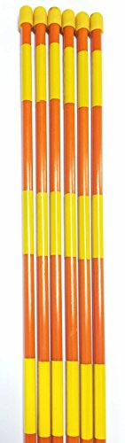 Lowest Price! Reflective Driveway Markers, 6ft Fiberglass Flexible Round Rebounding Poles with Night...