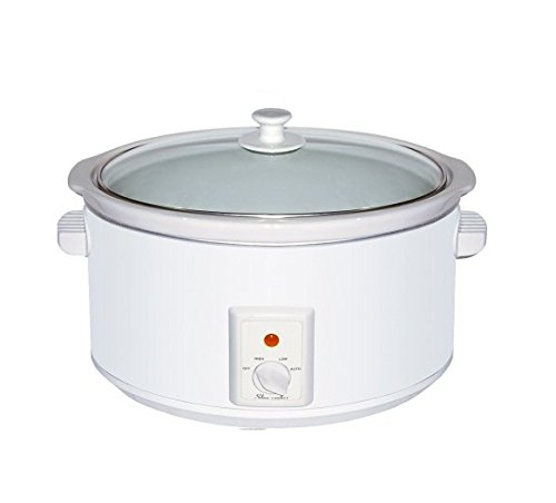 Brentwood SC-145W slow Cooker, 6.5 quart, white