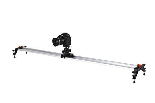 Movo Photo T150 60'' Heavy-Duty Professional Camera Track Slider Video Stabilization System by Movo