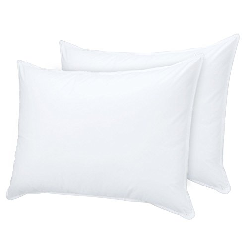 htovila 2 Pack White Bedding Pillows Goose Feather and Down Filling Bed Pillows for Home Hotel, King Size
