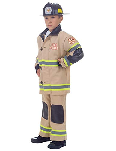 Unisex Child Authentic-Looking Tan Firefighter Uniform Halloween -